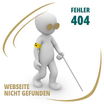 Fehler 404 - Webseite nicht gefunden