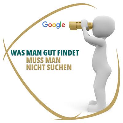 Was man gut findet muss man nicht suchen - Google